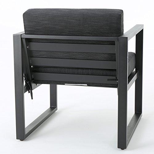 Dark Grey Patio Furniture Sets GDF Studio Nealie Patio Furniture ~ 4 Piece Outdoor Aluminum Chat Set  sc 1 st  ????? ?????? ??????? & Dark Grey Patio Furniture Sets GDF Studio Nealie Patio Furniture ~ 4 ...