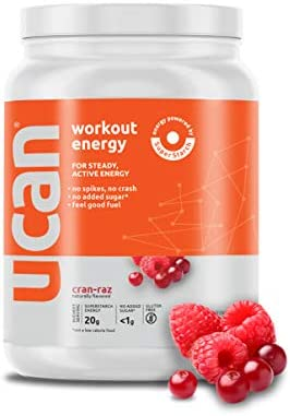 UCAN Energy Powder with Superstarch – Maximum Sustained Energy, Curbs Hunger, Increased Focus, Advanced Absorption, Vegan, Sugar and Gluten Free 30 Servings, Cran Raz