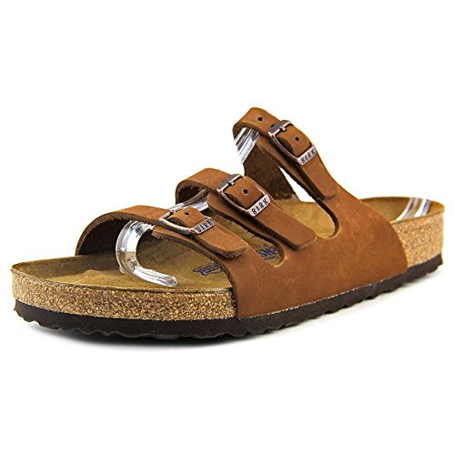 Birkenstock Women's Florida Nubuck with Soft Footbed Slides,Cocoa Nubuck with Soft Footbed,42 R EU