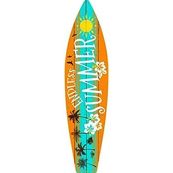 amazon com endless summer metal novelty surf board sign sb 031