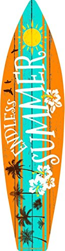 (Smart Blonde Endless Summer Metal Novelty Surf Board Sign)