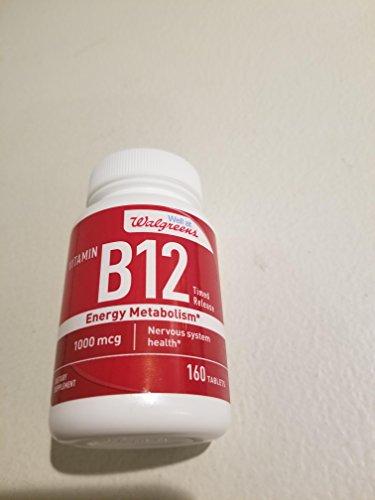 Walgreens Vitamin B12 Time Released Tablets 1,000 mcg 160 Tablets (Walgreens Vitamin C)