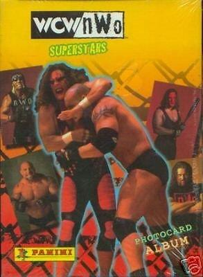 WCW NWO SUPERSTARS WRESTLING 1999 PANINI PHOTOCARD ALBUM BINDER WWE WWF