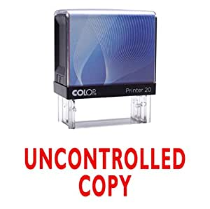 Amazoncom uncontrolled copy self inking rubber stamp for Uncontrolled document stamp