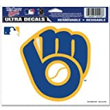 "MLB Milwaukee Brewers Retro Logo Ultra Color Decal, 5""x6"", Team Color"