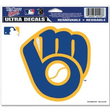 (WinCraft MLB Milwaukee Brewers Retro Logo Ultra Color Decal, 5