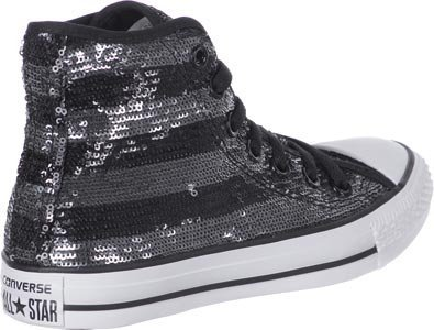 SILVER BLACK Sneaker Hi Unisex Leather Star Converse Suede Adulto U8xqa60