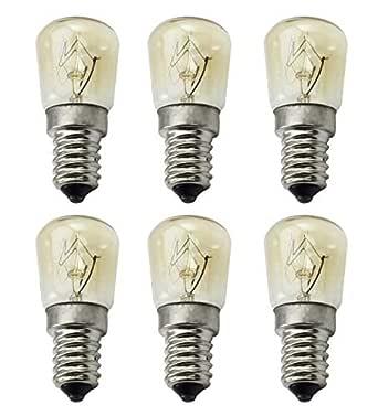 ctkcom 25 W T25 E14 Base Horno bombillas (6 unidades) - T25 E14 ...