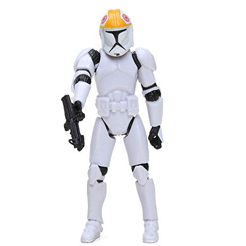 PAPWELL Clone Trooper Action Figure 3.75 inch Hot Toys Star Wars The Force Awakens Figures Mini Small White PVC Doll Toy Halloween Christmas Collectible Collectable Gifts Collectibles Gift for Kids ()
