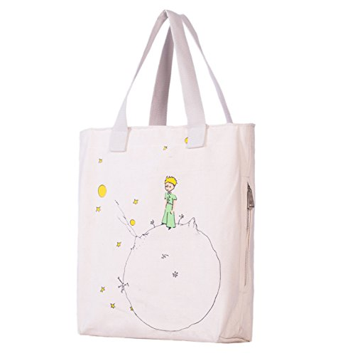 Little Prince Gift (Andes Classic Multi Pocket Zippered Natural Canvas Bag, The Little Prince)