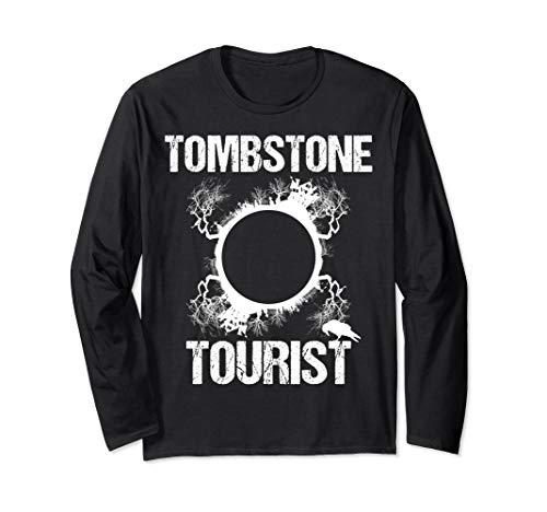 Tombstone Tourist Taphophilia Graveyard I Cemeteries Visitor Long Sleeve T-Shirt]()