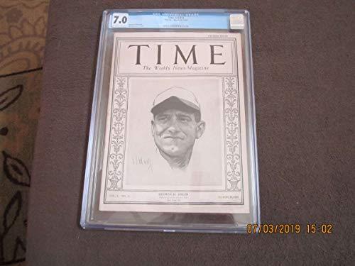 - 3/30 1925 George Sisler Time Magazine em cgc 7.0