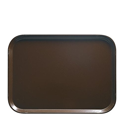 Cambro Manufacturing 1418FF167 Fast Food Tray Brown 14'' x 1