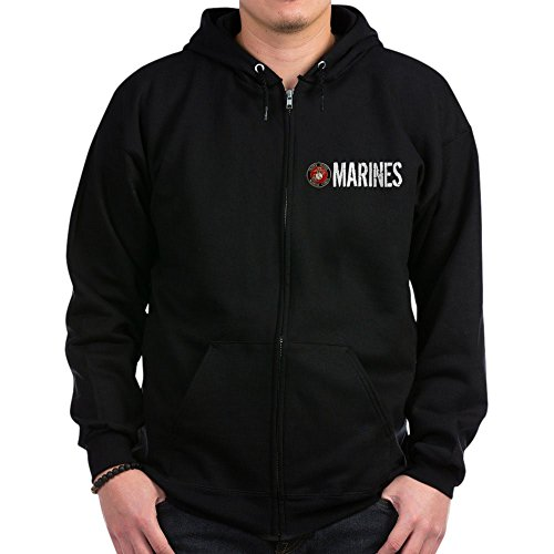 CafePress USMC: Marines - Zip Hoodie, Classic Hooded Sweatshirt with Metal Zipper -