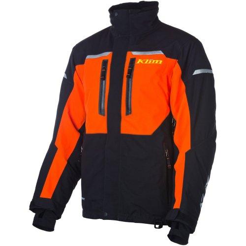 (Klim Keweenaw Parka Men's Ski Snowmobile Jacket - Orange/Medium)