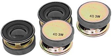 DealMux 4 piezas 40 mm de diâmetro, 4 ohmios 3 W metálicas ...