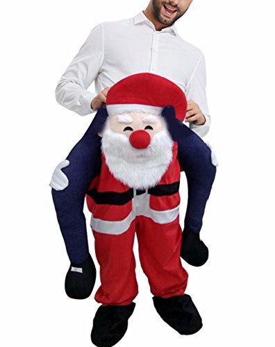 Huiyankej Piggyback Santa Costume Adult Carry On Me Costume Christmas Mascot Pants (Adult) -