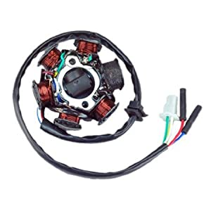 41lz2uwm5KL._SY300_ amazon com new alternator magneto stator 6 coil 6 pole 5 wire gy6 gy6 stator wiring at virtualis.co