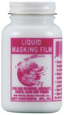 Bob Dively 3000 Liquid Masking Film 4 oz - Stripes Paint Mask
