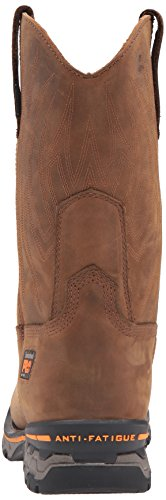 Timberland Pro Mens AG Boss Soft-Toe Waterproof Pull-On Industrial and Construction Shoe Brown Distressed Leather