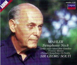 Price comparison product image Gustav Mahler : Symphony No 6 / Lieder eines fahrenden Gesellen