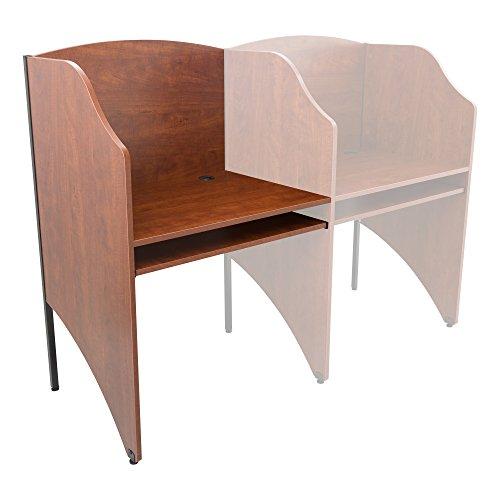 Norwood Commercial Furniture Single-Sided Study Carrel- Adder Unit - Carrel Single Study