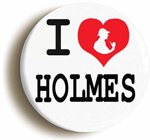 [I Heart Love Holmes Button Pin (Size is 1inch Diameter) Sherlock Dr Watson] (Doctor Watson Costume)