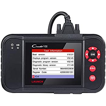LAUNCH Creader VIII OBD2 Scanner Engine//ABS//SRS//Transmission with EPB SAS Oil Reset