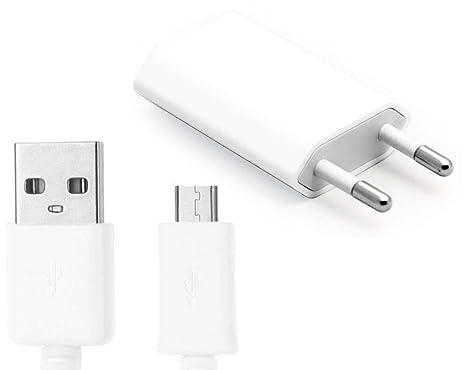 oba Cargador de Pared y Cable Micro USB Android Blanco