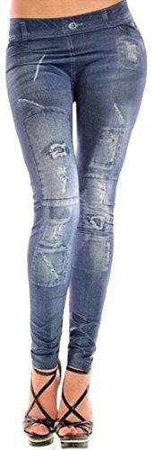 Coolred Women's Skinny Fashion Stretch Faux Jean Jeggings Leggings