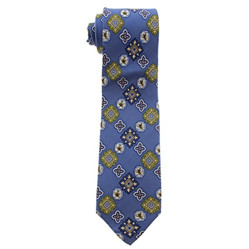 (Tommy Bahama Mens Tropic Medallion Silk Floral Neck Tie Blue O/S )
