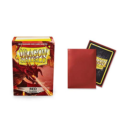 10 Packs Dragon Shield Classic Red Standard Size 100 ct Card Sleeves Display Case by Dragon Shield (Image #3)