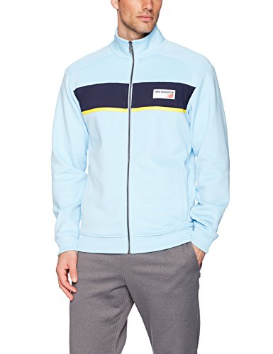 New Balance Men's Nb Athletics Track Jacket, Clear Sky, Large - Mens Nb Zip