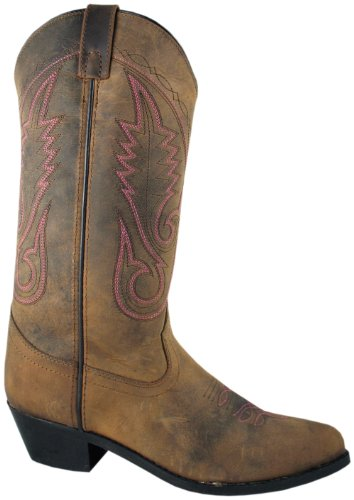 Cowboy Boots Brown Leather - Smoky Women's Brown Western 12