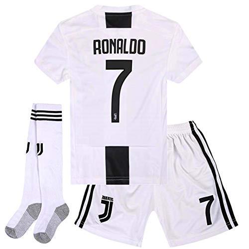 da6cfd090b3 Naxqa-xqy Ronaldo  7 Soccer Jersey 2018-2019 Juventus Home Kids Soccer  Jersey   Shorts   Socks Color White Size 5-6Years 20