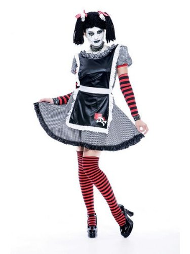 Womens Paper Doll Costume (Gothic Rag Doll Costume - Small - Small)