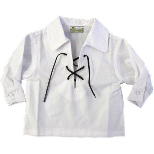 Tartanista Baby White Scottish Jacobite Kilt Shirt Ages 6 - 12 -