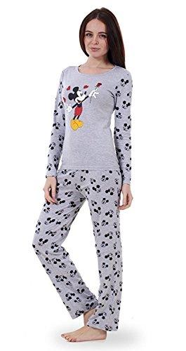 Womens Loungewear Set Snoopy Mickey Mouse Print Two Piece Pyjama Top Nightwear