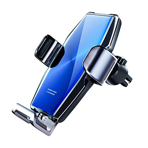 Wireless Car Charger,Jellico 15W Fast Charging Auto-Clamping Smart Sensing Air Vent Phone Holder, Compatible with iPhone11/11Pro/11ProMax/XSMax/XS/X, Samsung S10/S10+/S9/S9+/S8 and More(S9)