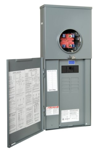 Panel Meter Breaker (Square D by Schneider Electric RC816F200C Homeline 200-Amp Main Breaker 8-Space 16-Circuit Outdoor Overhead/Underground CSED)