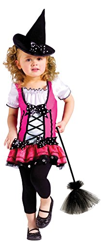 Spice Costumes (UHC Cute Girl's Sugar N Spice Witch Toddler Kids Fancy Dress Halloween Costume, S)