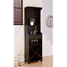 Furniture of America Carlsbad Wine Bar Cabinet, Cappuccino