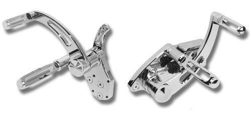 Accutronix Forward Controls - Slotted - Chrome FC102-SSC