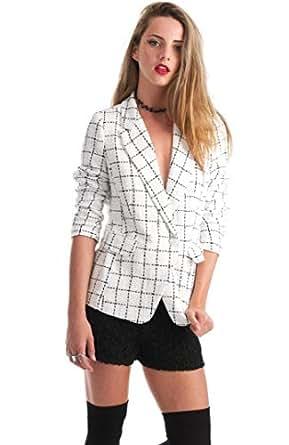 Hipster White Polyester Basic Jacket For Women