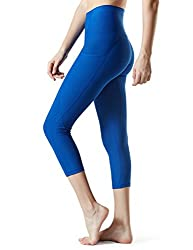 "Tm-fyc34-blu_medium Tesla Yoga 21""capri High-waist Pants W Side Pockets Fyc34"