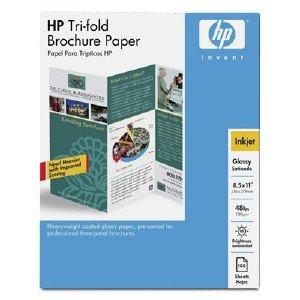 (HP C7020A Scored Tri-fold Brochure Paper (Glossy) - A size (8.5 x 11-inche)