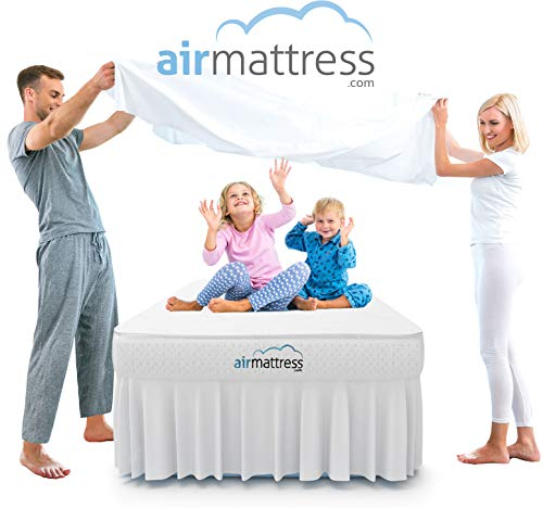 Air Mattress Twin Size - Best Choice Raised Inflatable Bed with Fitted Sheet and Bed Skirt - Built-in High Capacity Airbed Pump (Twin)