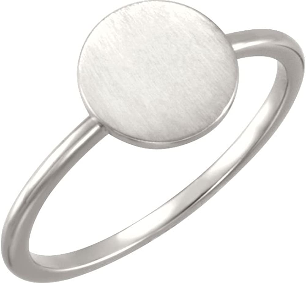 Jewels By Lux Continuum 925 Sterling Silver Round Engravable Ring Size 7