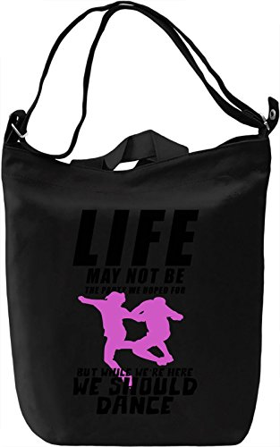 Life is a party Borsa Giornaliera Canvas Canvas Day Bag| 100% Premium Cotton Canvas| DTG Printing|