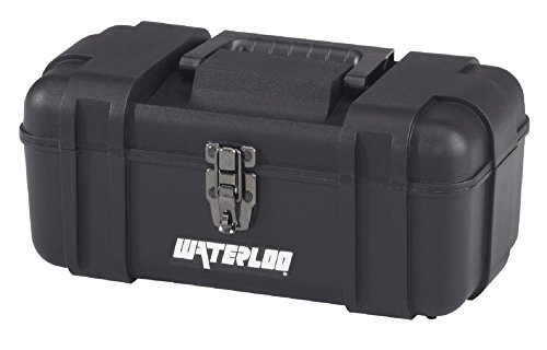 Waterloo Portable Series Tool Box made with Lightweight Industrial-Strength Plastic,...